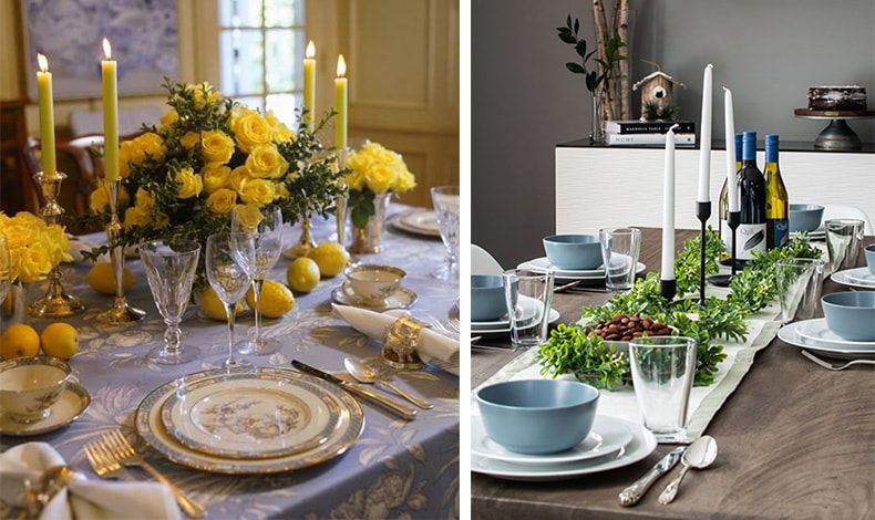 Δημιουργήστε την κατάλληλη ατμόσφαιρα! Λουλούδια, κεριά και όμορφα σερβίτσια ανοίγουν την όρεξη και δημιουργούν όμορφες συνθήκες ώστε κανείς να μην θέλει να σηκωθεί από το τραπέζι