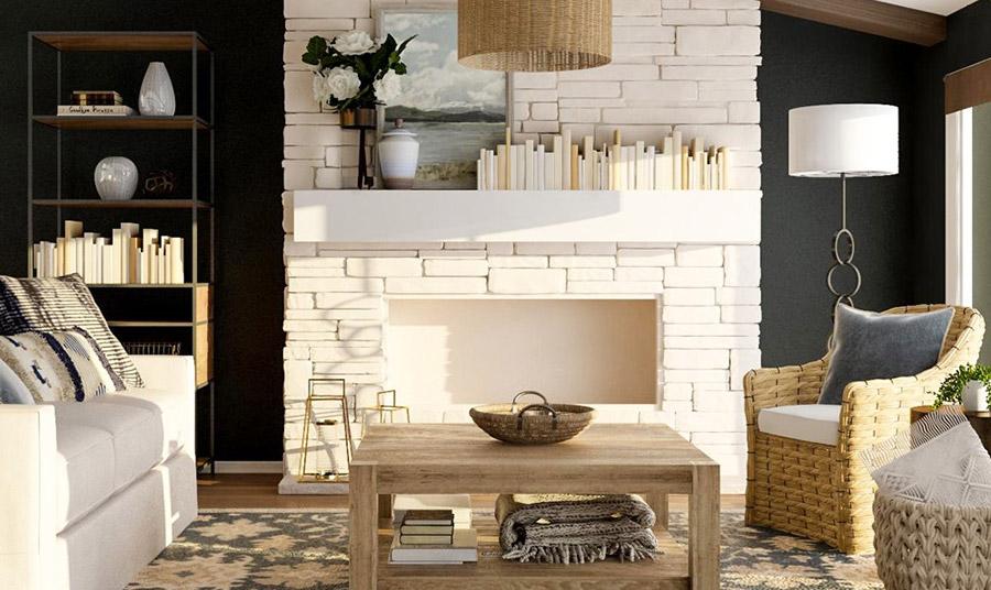 Ακόμα και περιοδικά ή μεγάλα coffee table books μπορούν να αποθηκευτούν σε κατάλληλα καλάθια για να έχουμε περισσότερο χώρο