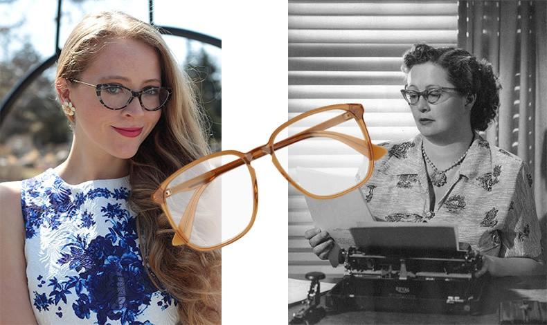 Αν χρειαζόμαστε γυαλιά, δεν σημαίνει ότι ο σκελετός τους θα πρέπει να θυμίζει ασπρόμαυρες φωτογραφίες γιαγιάδων… (δεξιά) Διαλέξτε έναν μοντέρνο σκελετό που κολακεύει το πρόσωπό σας, όπως του YSL (αριστερά) ή με χρώμα, από τη νέα συλλογή, Gucci