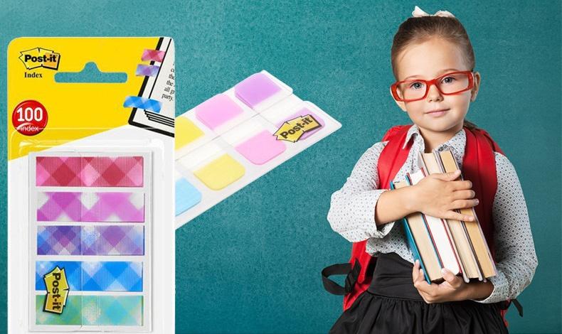 Με τα πολύχρωμα stickers Post-it? όχι μόνο θα βρίσκουν εύκολα τις σελίδες που πρέπει να διαβάσουν στα βιβλία και στα τετράδια αλλά θα μάθουν και την οργάνωση.