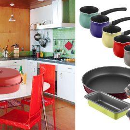 Η νέα σειρά σκευών Colors δίνει χρώμα στις γεύσεις μας. Ταψιά φούρνου, γάστρες, μπρίκια και φόρμες κέικ και γλυκών από χάλυβα ή αλουμίνιο σε 4 μοναδικά εξωτερικά χρώματα για να ανανεώσουμε το look στην κουζίνα και να φτιάξει το κέφι μας!