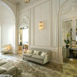 Ο αρχιτέκτονας Antonio Girardi φρόντισε να δημιουργήσει ένα εκλεκτικό μείγμα από vintage κομμάτια, πολυτελή υλικά και design λεπτομέρειες