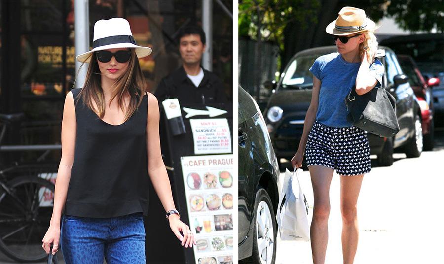 Ένα καπέλο Παναμά δίνει «χαρακτήρα» σε ένα απλό casual look με το τζιν σας // Η Ντιάνα Κρούγκερ με casual στιλ σε μία καλοκαιρινή βόλτα στην πόλη και… το καπελάκι της