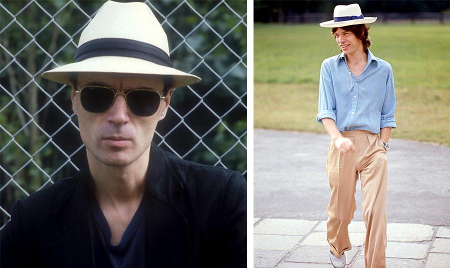 Τα καπέλα Παναμά εξακολουθούν πάντα να γοητεύουν τους καλλιτέχνες, όπως τον Ντέιβιντ Μπερν ή τον Μικ Τζάγκερ
