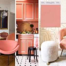 Αυτό το απαλό ροζ με πορτοκαλί τόνους ταιριάζει υπέροχα με τον χαλκό, τα ουδέτερα γενικά χρώματα, το πράσινο και το μπλε. Χαρίζει μία γλυκιά αίσθηση αλλά με ισχυρά στοιχεία μοντερνισμού