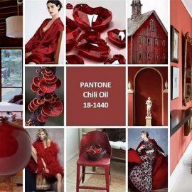 Το Chili Oil 18-1440, είναι το χρώμα που θα δώσει ένα εντελώς νέο στιλ όπου κι αν χρησιμοποιηθεί, προσθέτοντας μία πικάντικη νότα στους συνδυασμούς. Μπορεί να εφαρμοσθεί από έθνικ, μποέμ όσο και κλασικά σπίτια