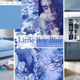 Το Little Boy Blue της Pantone είναι κάθε άλλο παρά γλυκερή απόχρωση! Συνδυάζεται θαυμάσια με λευκό αλλά και με κίτρινο για έντονη αντίθεση, καθώς επίσης και με αποχρώσεις του γκρι