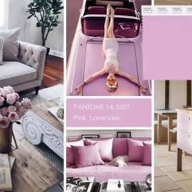 Το Pink Lavender 14-3207, ένας απαλός τόνος που μπορεί εύκολα να συνδυαστεί με αποχρώσεις του ροζ, του μπεζ, του καφέ, του μπλε? Για όσες θέλουν ένα ουδέτερο χρώμα με κοριτσίστικη διάθεση