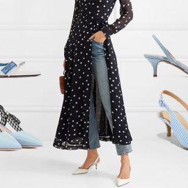 Φορέστε τα με το τζιν σας, αρκεί να είναι το μήκος του πάνω από τον αστράγαλο! Λευκό με γαλάζια λεπτομέρεια, Prada // Γαλάζια με ασπρόμαυρη κορδέλα, Miu Miu // Από γαλάζιο τζιν ύφασμα, Τabitha Simmons // Γαλάζιο ριγέ, Target