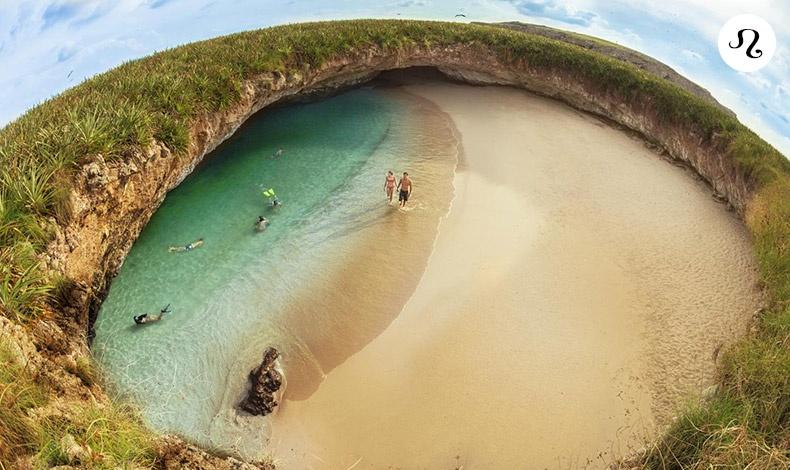 Μία Λιονταρίνα θέλει να τραβά την προσοχή! Γι' αυτό ζητάτε μια παραλία που θα προκαλέσει τον θαυμασμό! Η Playa del Amor στο Μεξικό είναι ένας ξεχωριστός... ιδιωτικός παράδεισος