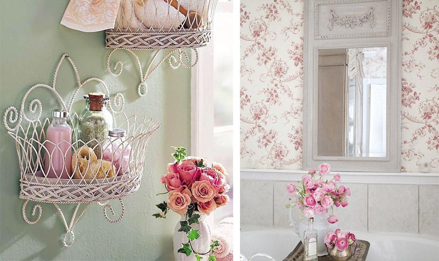 Οι μικρές λεπτομέρειες κάνουν τη διαφορά… και στο μπάνιο. Είτε με μεταλλικά φερ φορζέ καλαθάκια είτε με μία λουλουδάτη ταπετσαρία. Σημαντική προσθήκη ένα βάζο με φρέσκα λουλούδια!