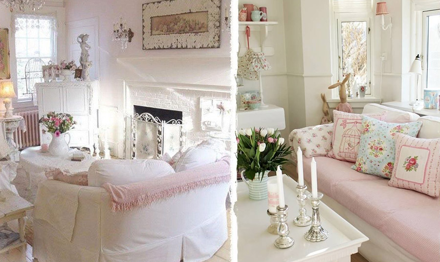 Οι αποχρώσεις του λευκού σε συνδυασμό με ροζ και γαλάζια παστέλ δημιουργούν έναν ανοιχτό και φωτεινό χώρο