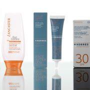 Για τέλειο μαύρισμα Sun Control, SPF 50 για το πρόσωπο και το σώμα, LANCASTER // After Sun Face Cream, παγκόσμια καινοτομία με βρώσιμο γιαούρτι και Aντηλιακή κρέμα προσώπου με γιαούρτι, SPF 30, KORRES