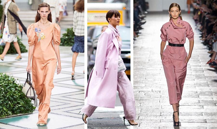 Η μονοχρωμία είναι και πάλι στη μόδα! Επιλέξτε την αγαπημένη σας απόχρωση! Mακρύ φόρεμα με απλικέ, από τη συλλογή άνοιξη-καλοκαίρι 2020, Tory Burch // Ποντάροντας… στο ροζ! // Σε «σκονισμένο» ροζ, Bottega Veneta
