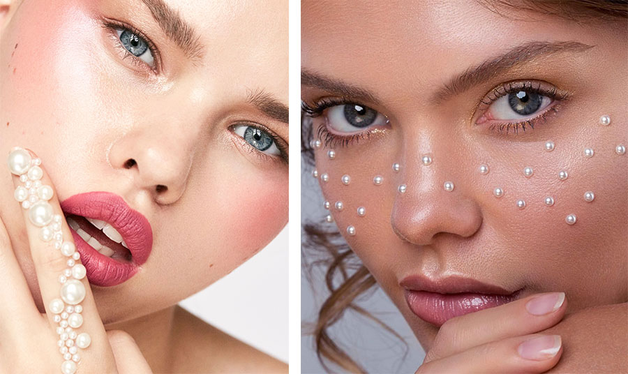 Η Sarah_Redzikowski_makeup_artist στην Καλιφόρνια και στο Λονδίνο εμπνεύστηκε από τα μαργαριτάρια και τα προτείνει σε ένα διαφορετικό μακιγιάζ