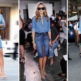 Από τη Ριάνα μέχρι την Τζούλια Ρόμπερτς, το τζιν πουκάμισο και φούστα είναι η τελευταία λέξη της μόδας. Προτιμήστε να τη συνδυάσετε με ψηλοτάκουνα