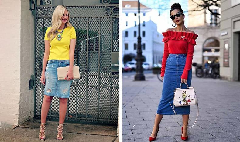 Τα φωτεινά χρώματα όπως το κίτρινο και το κόκκινο ταιριάζουν τέλεια με το τζιν, ενώ με τα ανάλογα αξεσουάρ μπορούμε να έχουμε ένα πολύ ενδιαφέρον αποτέλεσμα