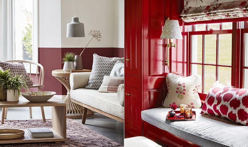 Τα δωμάτια με κόκκινες αποχρώσεις κάνουν τον χώρο να δείχνει φιλόξενος και προκαλεί μία αίσθηση πολυτέλειας