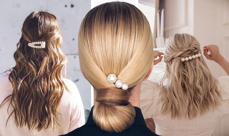 Οι διαφορετικές εκδοχές που μπορείτε να στολίσετε τα μαλλιά σας με ένα κοκαλάκι από πέρλες