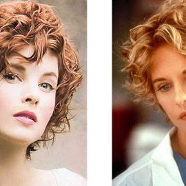 Και τα κοντά μαλλιά μπορούν να έχουν την... περμανάντ τους. Το σημερινό στιλ (αριστερά) είναι πιο ανάλαφρο από τα μαλλιά της Μεγκ Ράιαν (δεξιά) τη δεκαετία του '90