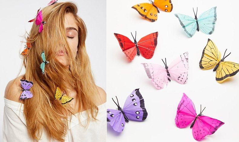 Εντυπωσιακά χρώματα για τα κοκαλάκια πεταλούδες που «σκορπίζονται» κατά μήκος των μαλλιών