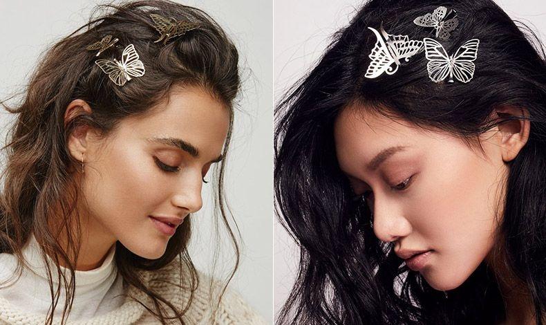 Πιάστε τα μαλλιά σας όπως όταν ήμαστε μικρές, με μεταλλικές «πεταλούδες» ασημί ή χρυσαφί και πολύ όμορφα σχέδια