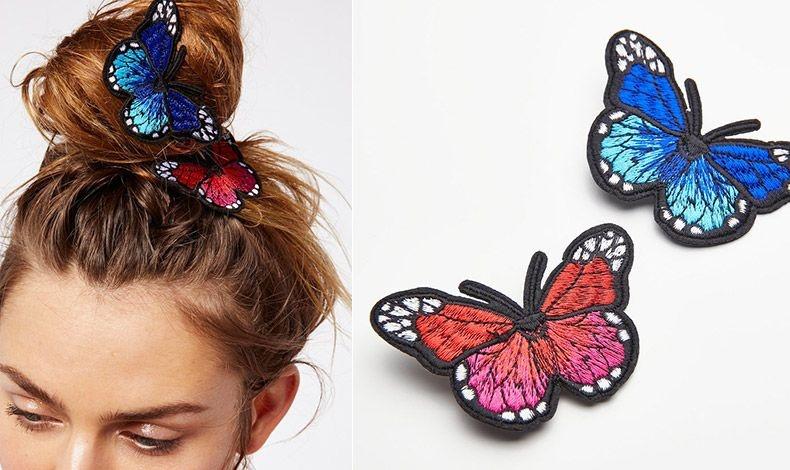 Δέστε τα μαλλιά σας ψηλό κότσο και στολίστε με πεταλούδες και μάλιστα πλεχτές που έχουν μία διάθεση vintage