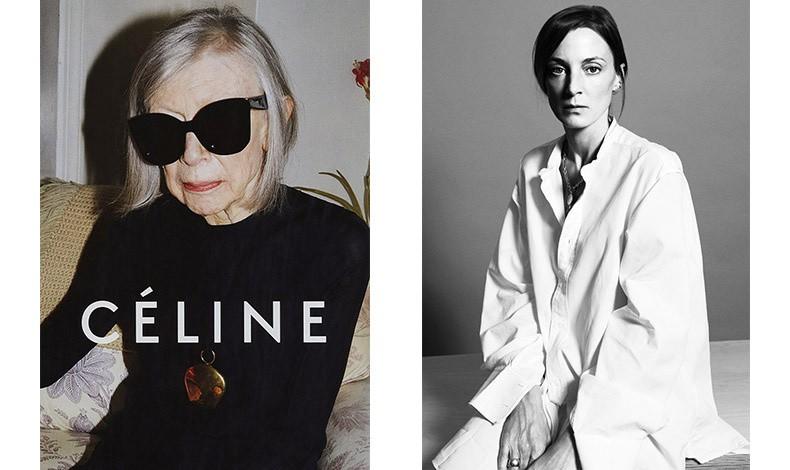 Η Phoebe Philo έκανε πρόσωπο του οίκου τη διάσημη Αμερικανίδα συγγραφέα Joan Didion // Η σχεδιάστρια με το απαράμιλλο στιλ