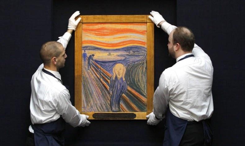 """Η περίφημη """"Κραυγή"""" του Νορβηγού ζωγράφου Έντβαρντ Μουνχ"""