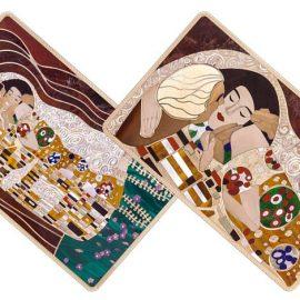 Ο διάσημος Αυστριακός ζωγράφος Gustav Klimt και ο περίφημος πίνακάς του «Το φιλί» σε πολύτιμη πιστωτική κάρτα της Rosand Diamond