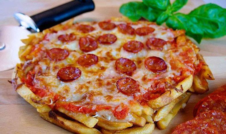 «Πίτσα» με βάση από πατάτες