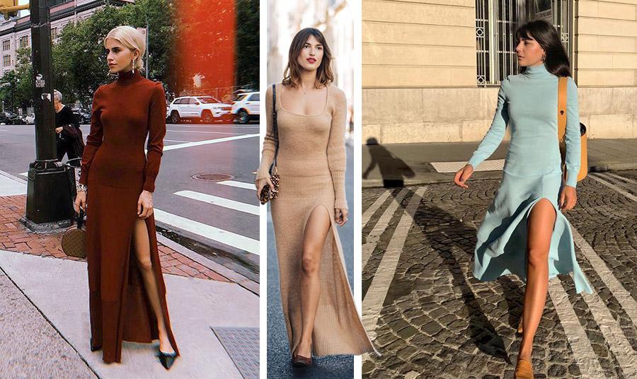 Το μάξι πλεκτό φόρεμα του Jacquemus που κάνει θραύση! Με αβυσσαλέο σκίσιμο και σε παραλλαγές με ζιβάγκο ή στρογγυλό ντεκολτέ και σε άπειρα χρώματα!