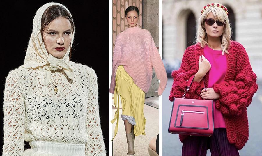 Η νοσταλγική νότα εκφράζεται εδώ με ένα υπέροχο πλεκτό σε ιβουάρ από τη συλλογή Dolce&Gabbana // Παστέλ χρώματα, χαλαρή και φαρδιά γραμμή και ριμπ πλέξη. Συνδυάζεται υπέροχα με μία μίντι πλισέ φούστα // Φαρδιά μανίκια και δυνατά χρώματα για μοντέρνα και επίκαιρη εμφάνιση