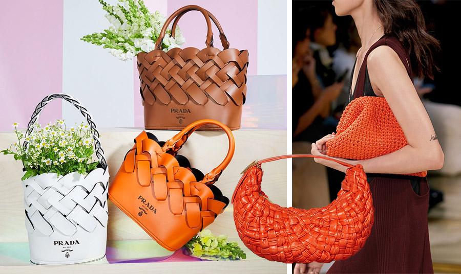 Η Miuccia Prada «έπλεξε» λωρίδες δέρματος σε υπέροχες τσάντες με διάφορα χρώματα, μεγέθη και σχήματα // Η Bottega Veneta πρότεινε μία πλειάδα από πλεκτές τσάντες με διαφορετικές πλέξεις και υλικά εντυπωσιάζοντας