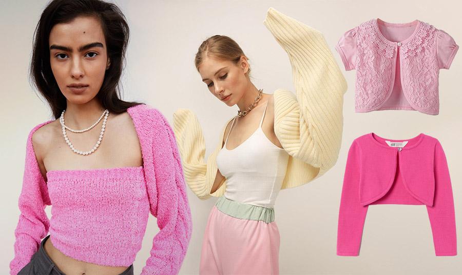 Τα μπολερό έχουν και χρώμα! Σε παστέλ ή πιο ζωηρές αποχρώσεις και φυσικά δεν μπορεί να μην υιοθετήσουν το χρώμα της μόδας: ροζ και φούξια!