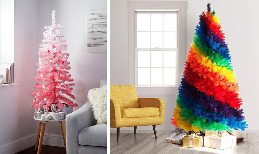 Από την τάση ombré στο χρώμα των… μαλλιών μας… στο ροζ ombré χριστουγεννιάτικο δέντρο // Με δυνατά χρώματα, κόκκινο, κίτρινο, πράσινο, μπλε και μοβ, ένα δέντρο για τολμηρούς!