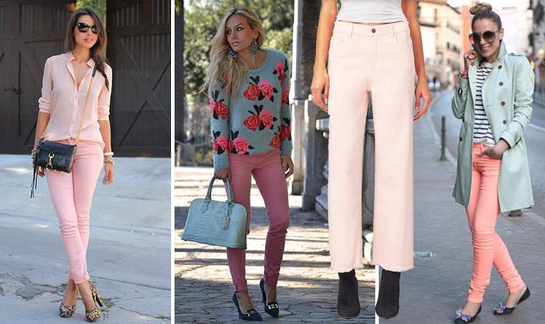 Οι τρυφερές αποχρώσεις του ροζ στο τζιν μας. Φορέστε το με ανάλογης απόχρωσης πουκάμισο, με ένα λουλουδάτο βαμβακερό πουλόβερ ή μπλούζα ή με ένα κάρντιγκαν σε παστέλ επίσης, απόχρωση