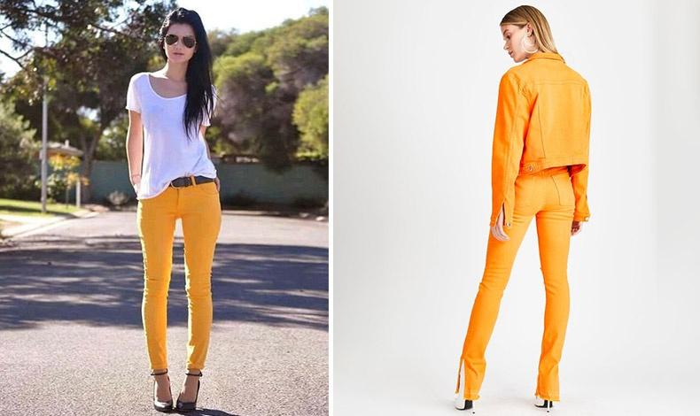 Για τις πιο τολμηρές... ένα τζιν σε αποχρώσεις του πορτοκαλί!