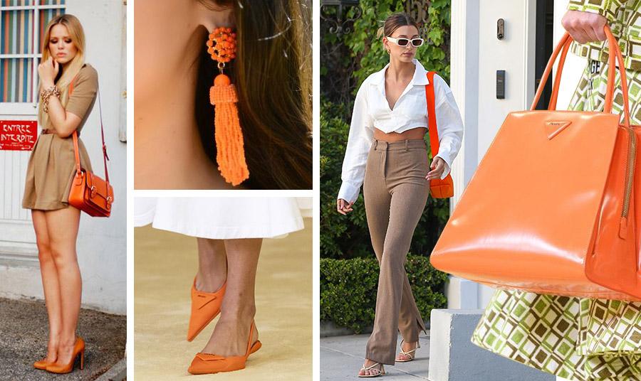 Επιλέξτε αξεσουάρ σε πορτοκαλί χρώμα για να δώσετε χρώμα και ζωντάνια στις εμφανίσεις σας