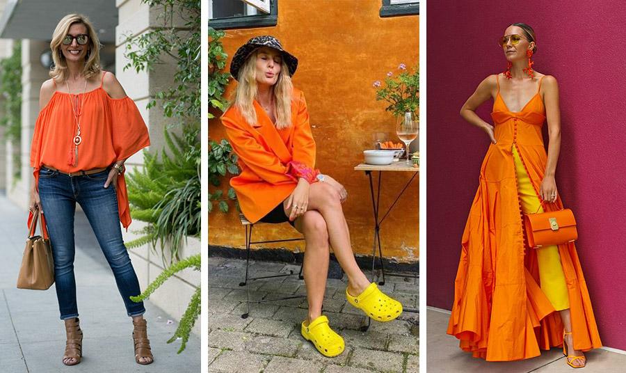 Το τζιν σας ταιριάζει με κάθε πορτοκαλί απόχρωση // Λαμπερές αντιθέσεις σε ένα σύνολο: πορτοκαλί και κίτρινο