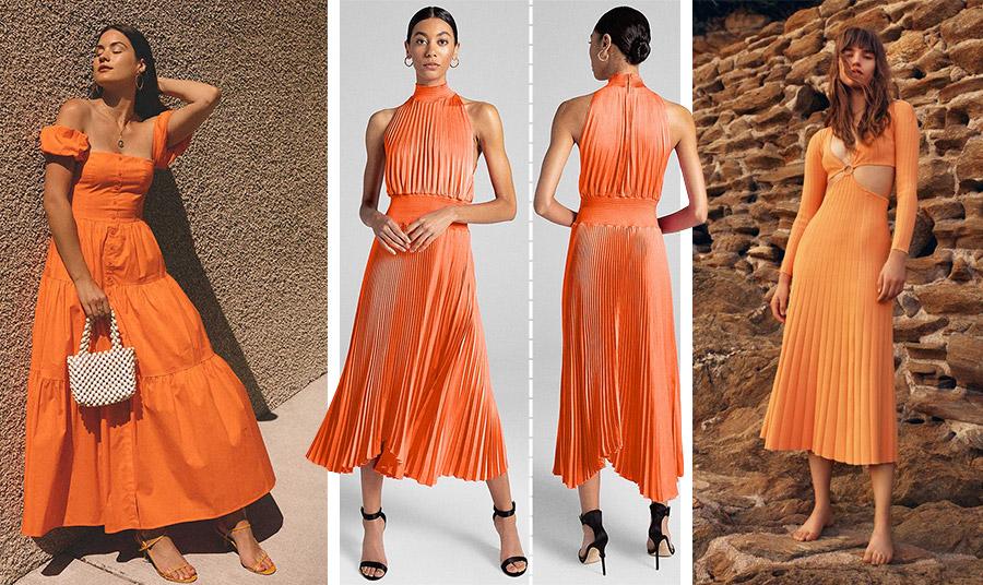 Ένα φόρεμα σε πορτοκαλί απόχρωση είναι η πιο έξυπνη και «ασφαλής» λύση