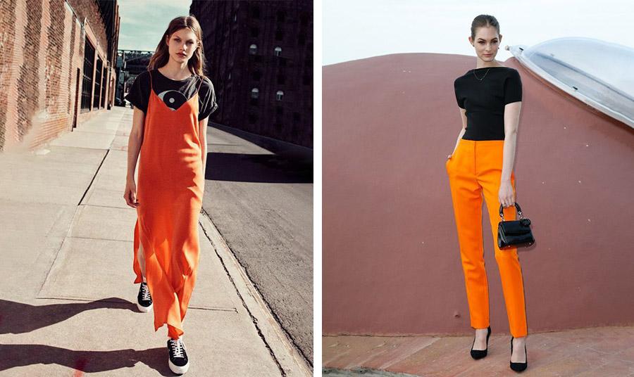 Δυνατές αντιθέσεις ανάμεσα στο πορτοκαλί και το μαύρο
