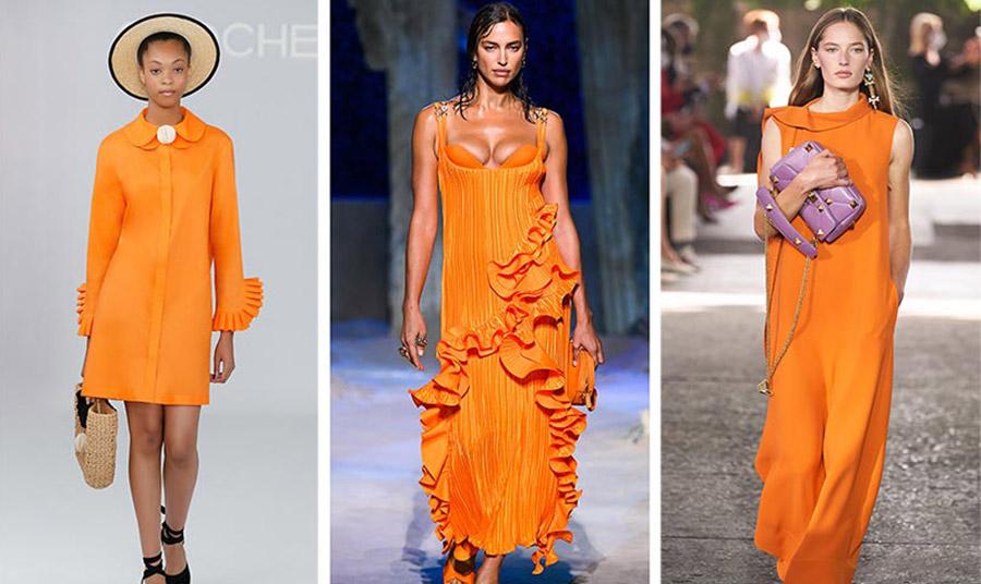 Από τις συλλογές άνοιξη-καλοκαίρι 2021: Chocheng // Versace // Valentino