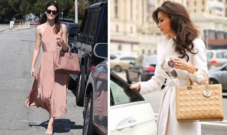 Κρατώντας την τσάντα περασμένη στην αγκώνα σημαίνει ότι δεν θέλετε να περνάτε απαρατήρητες για το στιλ σας, όπως η Emmy Rossum // Το κράτημα από τον αγκώνα είναι μία κίνηση για να δείξουμε την ακριβή μας τσάντα, όπως π.χ. μία Dior