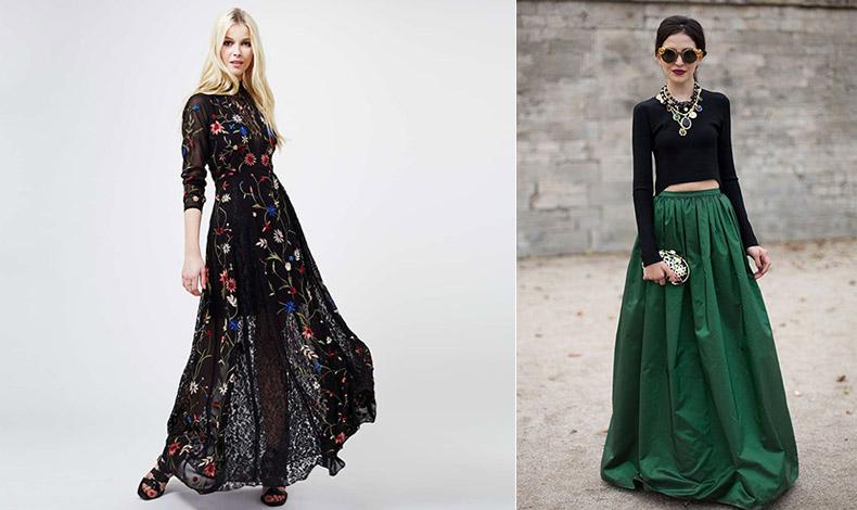 Μία καλοραμμένη μάξι φούστα ή φόρεμα μπορεί να δημιουργήσει την αίσθηση ότι είστε πιο ψηλή απ' ό,τι στην πραγματικότητα