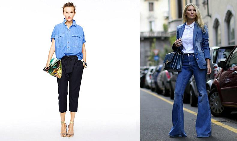 Αποφύγετε τα κάπρι παντελόνια που δείχνουν τα πόδια μάλλον περίεργα! // Τα στενά τζιν με τελείωμα καμπάνα, δημιουργούν την ψευδαίσθηση πιο μακριών ποδιών