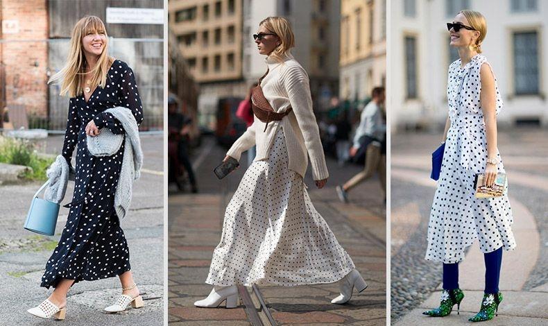 Φορέστε ένα πουά φόρεμα με διάφορους συνδυασμούς για τελείως διαφορετικό αποτέλεσμα