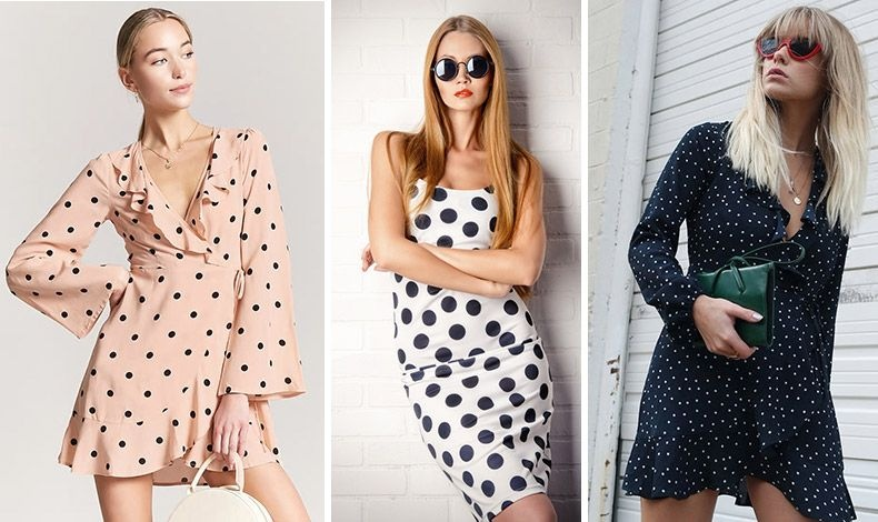 Πουά μίνι φόρεμα με χρώμα, μικρά ή μεγαλύτερα πουά και διαφορετικό κόψιμο για να βρείτε αυτό που σας ταιριάζει