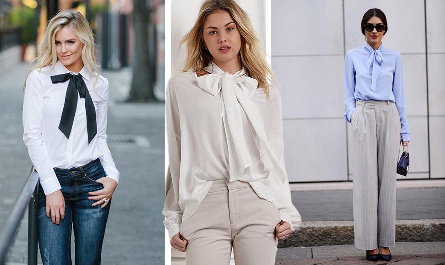 Φορέστε το κλασικό λευκό πουκάμισο με το τζιν σας με ένα φιόγκο σε μαύρο χρώμα και δημιουργήστε εύκολα μία νέα εικόνα! // Χαλαροί φιόγκοι μεγαλύτεροι ή μικρότεροι κάνουν την εμφάνισή μας πιο ενδιαφέρουσα και θηλυκή