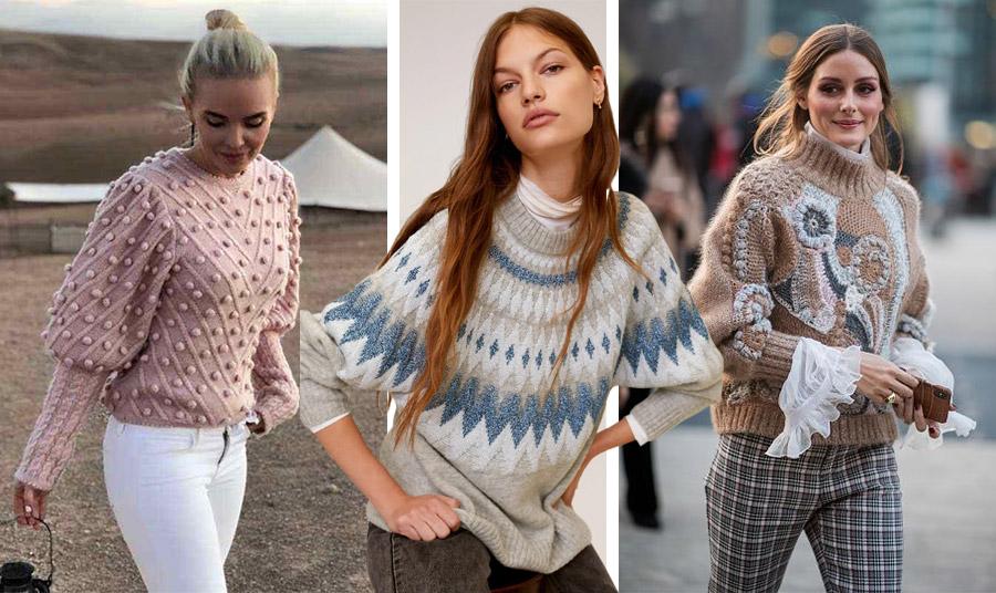 Η «πανοπλία» του χειμώνα μπορεί να είναι πολύ ενδιαφέρουσα! Επιλέξτε ένα χοντρό πουλόβερ με απλικέ ή κεντήματα για το πρωί ή για τις εκδρομές σας